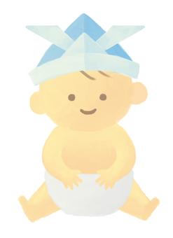 第一個節日·頭上的嬰兒和紙