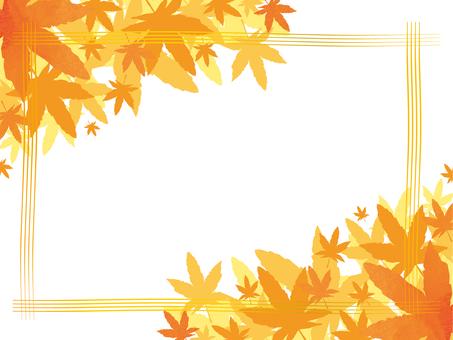 紅葉、秋イメージフレーム