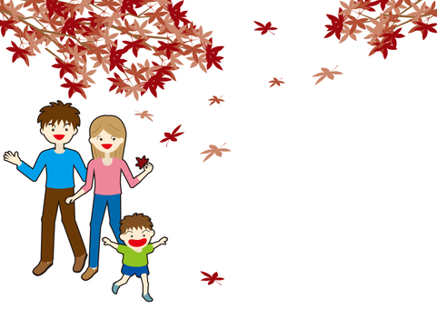 Family B in autumn leaves B