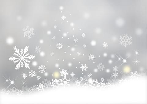 Snow scenery _ gray background
