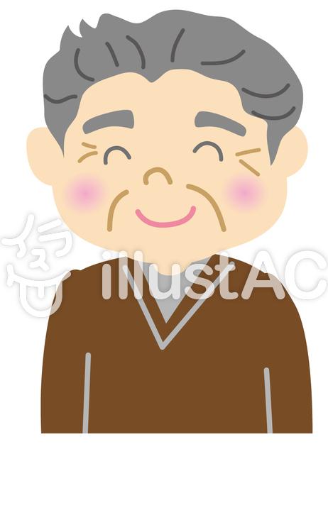 おじいさん 笑顔イラスト No 675104無料イラストならイラストac