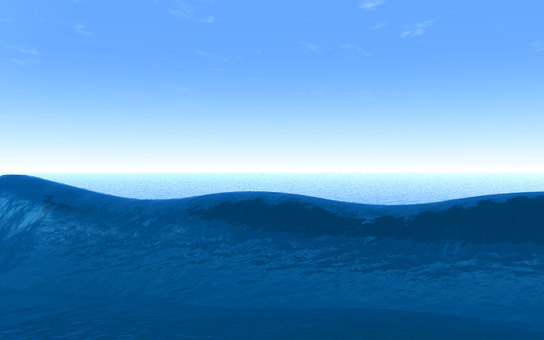 3DCG sea and wave 6 (background transmission)