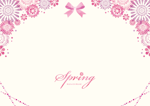 Spring background frame 053 flower watercolor