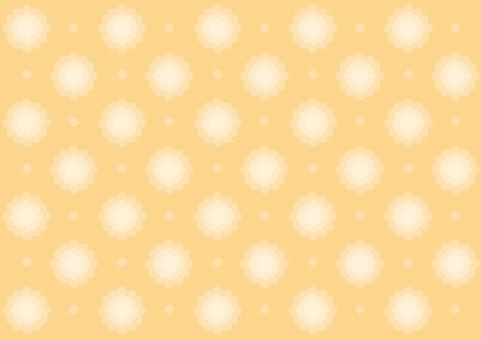 Wallpaper - Floral Pattern - Orange