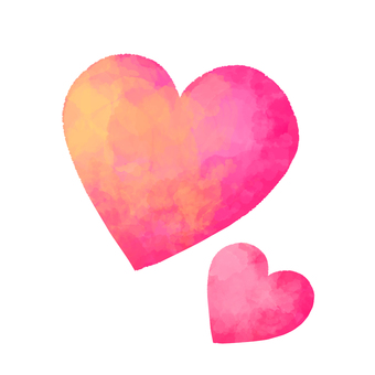 Watercolor-style heart 1