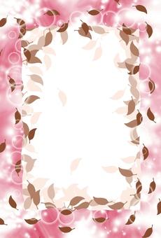 리프 템플릿 (핑크 계열)