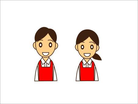 Men and women in aprons