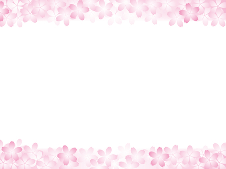 Cherry blossom motif background material 17
