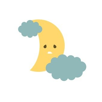 Moon and rain clouds