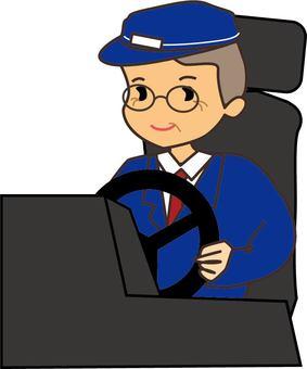 수석 남성 운전자