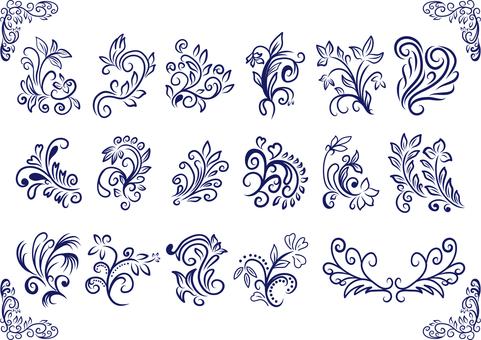 Plant image decoration set