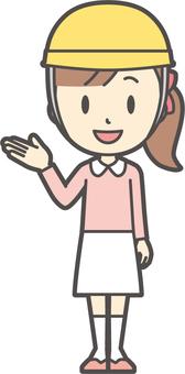 Girl pink long sleeve -119-whole body