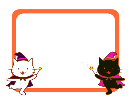 Halloween cat frame