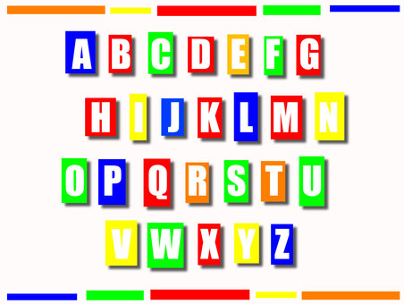 Vitamin Color Alphabet Set