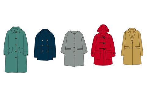 Winter coat hanger illustration