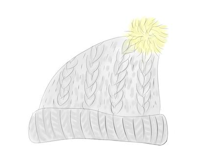 수채화 풍 짠 니트 모자