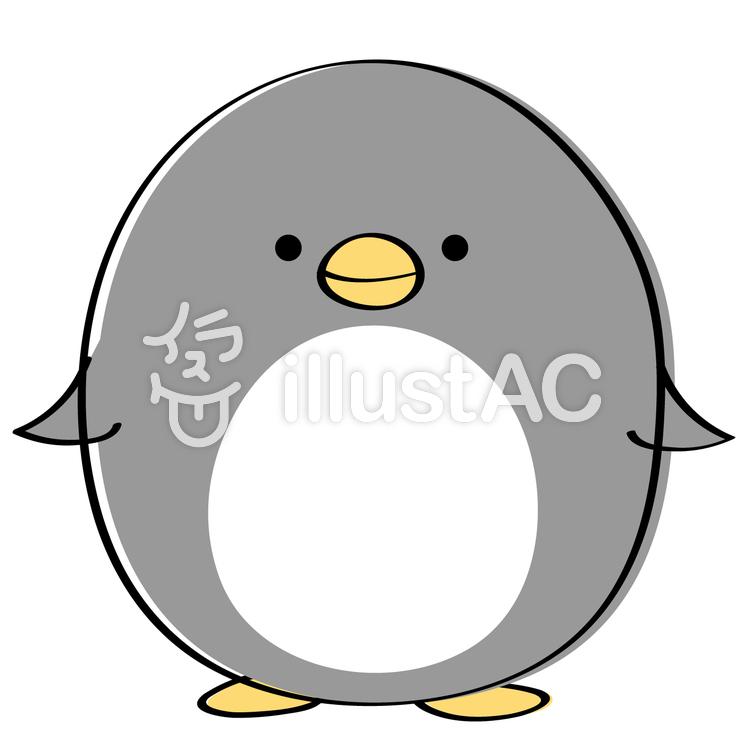 ゆるいペンギン にっこり笑顔イラスト No 1085156無料イラストなら
