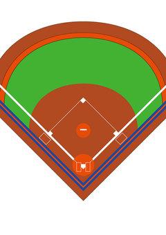 위에서 본 야구장