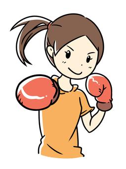 보쿠사사이즈을하는 여성 다이어트