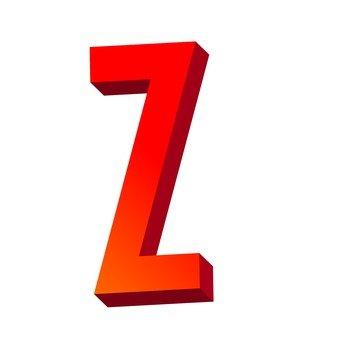 Three-dimensional text Z