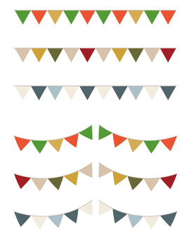 Winter Flag Garland