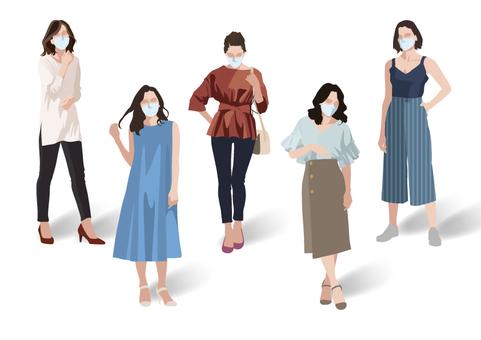 Mask summer fashion ladies