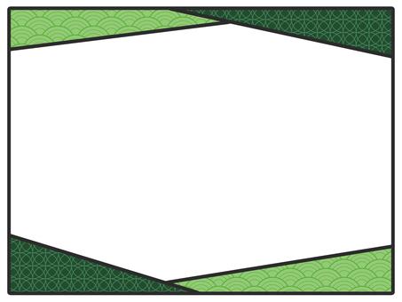 Japanese style frame green