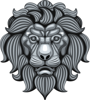 Lion lion sculpture relief face