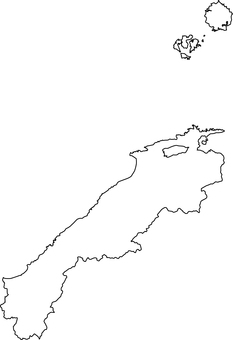 Shimane prefecture _ line drawing