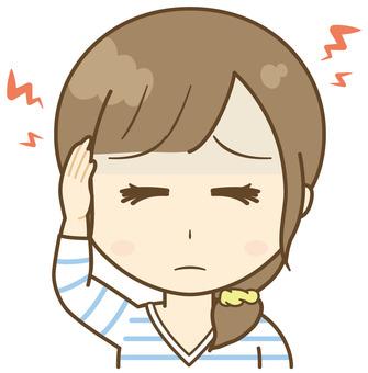 여성 두통 【아사쿠라 일가]