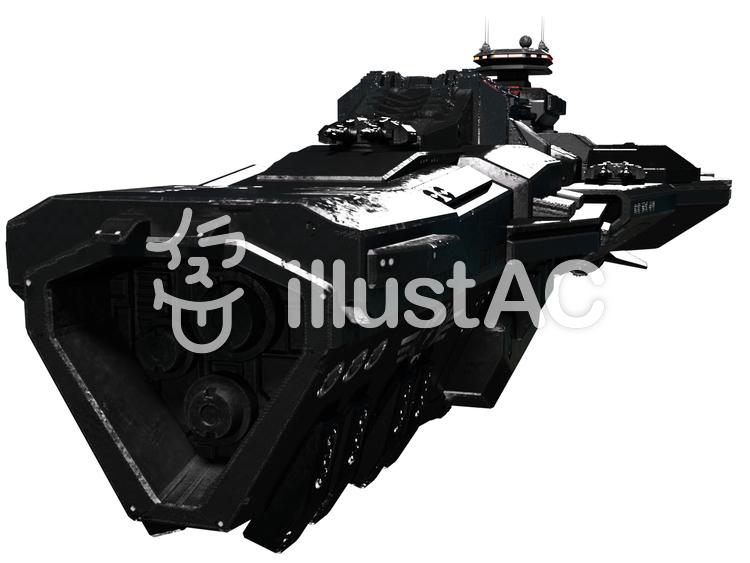 宇宙戦艦のイラスト