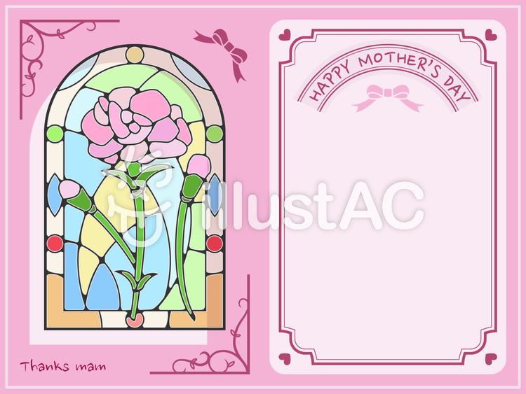メッセージカード-母の日のイラスト