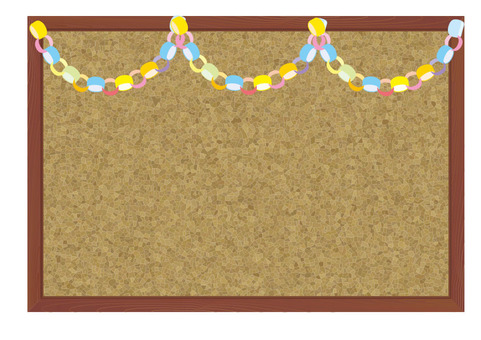 Cork board - paper decoration
