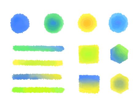 Summer color watercolor brush illustration material