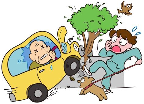 dangerous! Driver accident frequently occurred in elderly people!