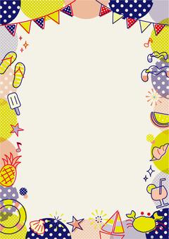 Summer motif frame _ C _ vertical