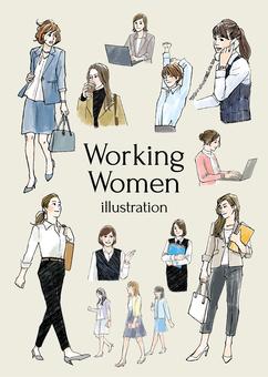 働く女性イラスト