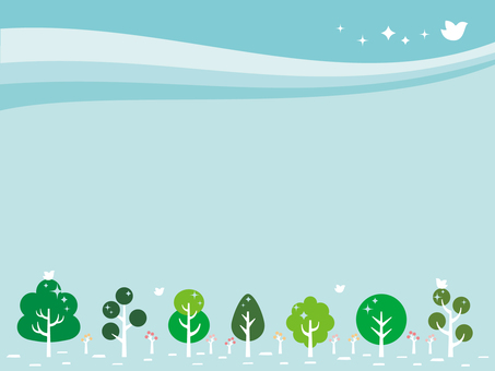 Pop-up trees illustration