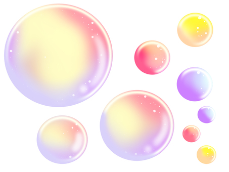 Girly soap bubbles