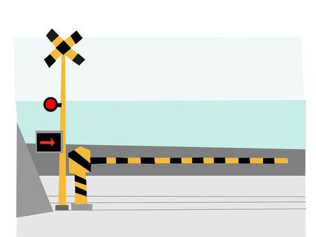 Railway crossing of Shonan