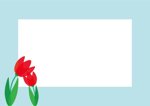 Decorative frame of tulip POP