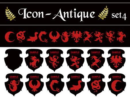 Antique heraldic set 04