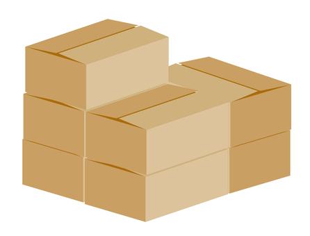 Mountain of corrugated cardboard box