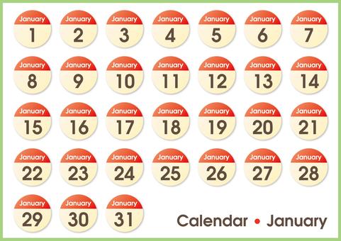 Calendar circle January