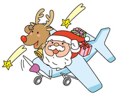 비행기와 순록과 산타