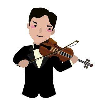 바이올리니스트 상반신 남성