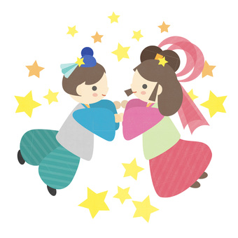 Tanabata's cute illustration