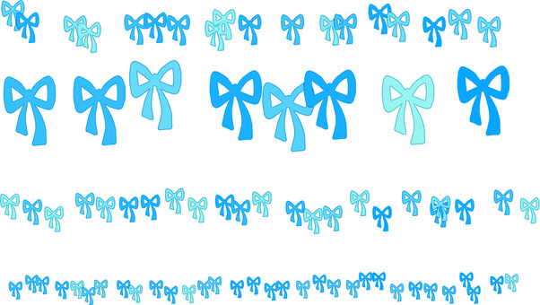 Ribbon line (blue)