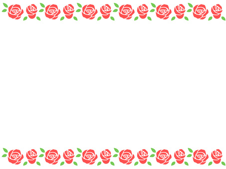 Simple rose frame