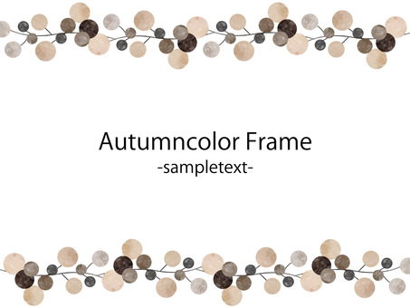 Autumn color frame ver 41